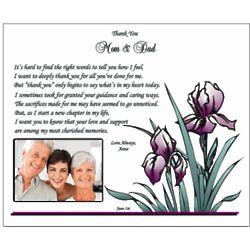 Thanks to Parents Wedding Poem Print