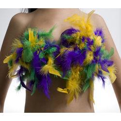 Mardi Gras Feather Bikini Top
