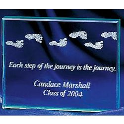 Each Step of the Journey Glass Paper Weight