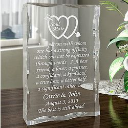 Personalized Soul Mate Definition Plaque