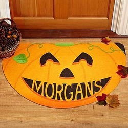 Personalized Halloween Greetings Doormat