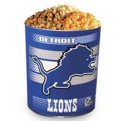 Detroit Lions 3 Way Gourmet Popcorn Tin