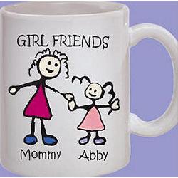 Personalized Girl Friends Mug