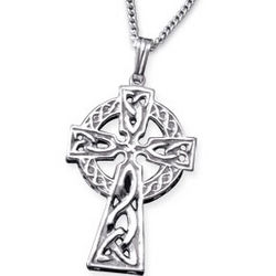 Men's 10K Gold Celtic Cross Necklace