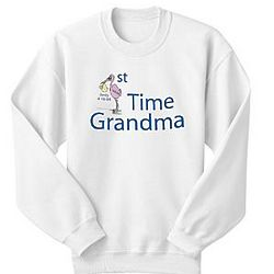 Personalized First Time Parent or Grandparent Sweatshirt