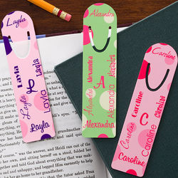 Personalized Name Bookmarks for Girls