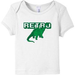 Retro Pixel Dinosaur Baby T-Shirt