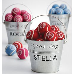 Personalized Tennis Ball Dog Bucket