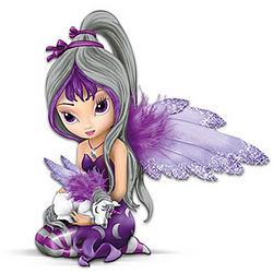 Fairy and Unicorn Midnight Dream Figurine