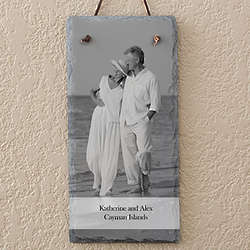 Photo Sentiments Personalized Vertical Slate