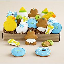 Welcome Baby Boy Cookie Box