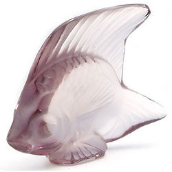Dark Lalique Crystal Fish Figurine
