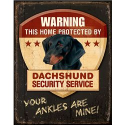 Dachshund Dog Breed Patrol Sign