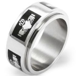 Black Claddagh Spinner Ring
