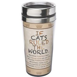 If Cats Ruled the World Insulated Travel Mug