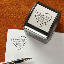 Heart of Love Self-Inking Address Stamper
