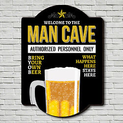 Authorized Personnel Only Wooden Man Cave Sign