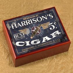 Personalized Patriot Cigar Humidor