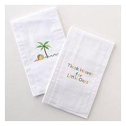 Palm Tree Burp Cloths
