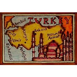 Turkey Map Leather Photo Album in Color