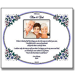 Personalized Poem for Mom and Dad