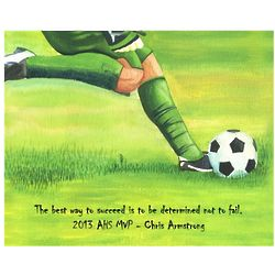 Kick Out of Soccer Personalized Art Print