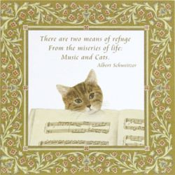 Music Cat Flour Sack Towel Gift Set