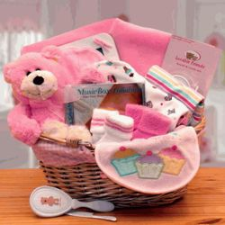 Pink Simply Basics New Baby Hamper