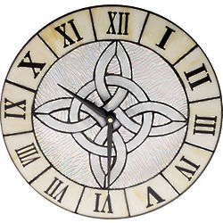 Celtic Stained Glass Clock