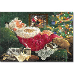 Santa with Puppies & Kittens Jigsaw Puzzle