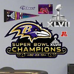 Baltimore Ravens Super Bowl Champions Fathead Wall Logo