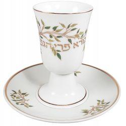 Shabbat Porcelain Wine Cup