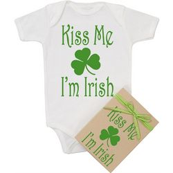 Organic Kiss Me I'm Irish Onesie