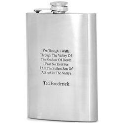 Valley of Death Personalized Flask