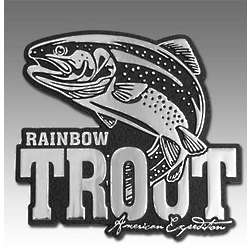 Rainbow Trout Metal Auto Emblem