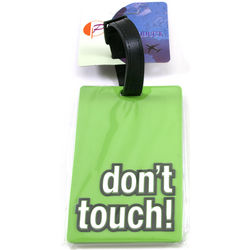 Don't Touch! Luggage Tags and ID Cards with Attitude