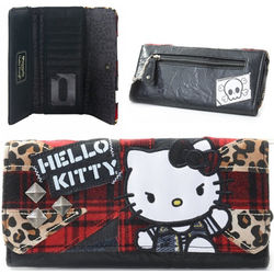 Punker Plaid Hello Kitty Wallet