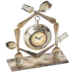 Utensil Mantel Clock
