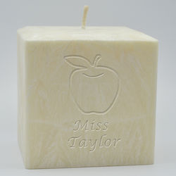 """Teacher Personalized Palm Wax 4"""" Candle"""