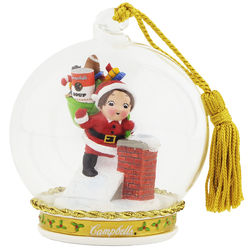 Campbell Soup Kid on the Rooftop Globe Ornament