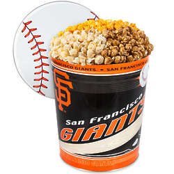 3 Gallons of Popcorn in San Francisco Giants Tin