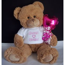 Romantic Hearts Personalized Teddy Bear