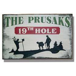 Personalized Vintage 19th Hole Sign