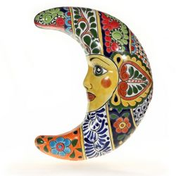 Mexican Talavera Moon Plaque