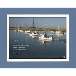 Friend or Family Poem Personalized Boats Sailing Print