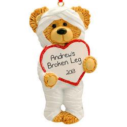 Broken Arm/Broken Leg or Surgery Bear Ornament