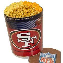 San Francisco 49ers 3 Way Gourmet Popcorn Tin