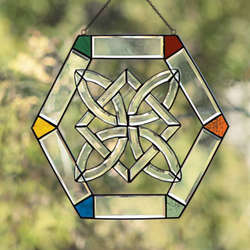 Jeweled Stained Glass Celtic Suncatcher