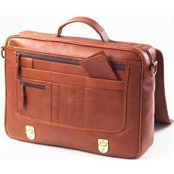 Executive Leather Flap Briefcase