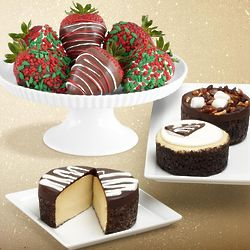 Cheesecake Trio and 6 Christmas Strawberries